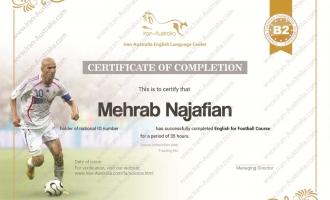 زبان تخصصی فوتبال